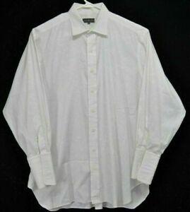 Robert-Talbott-Mens-17-33-Shirt-White-French-Cuffs-Long-Sleeve-Button-Up-Cotton