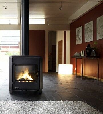 Invicta Carolo Contemporary Multi fuel Stove Fire Wood Burner Airwash 7-10kw