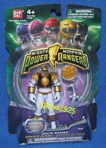 "Power Rangers Legacy Mighty Morphin 6/"" White Ranger Action Figure Neuf"