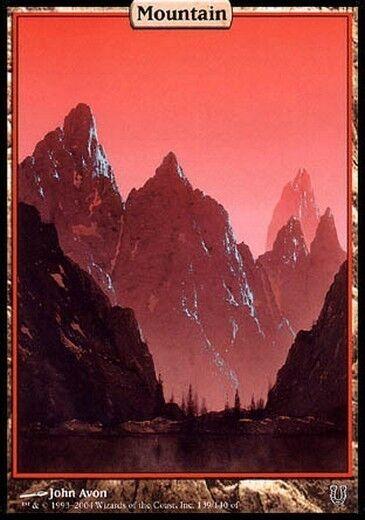 Blattmetall, folien und dünne bänder, textless voller kunst - berg montagna mtg magie - verstört, englisch