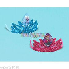 FROZEN MINI GLITTER TIARAS (2) ~ Princess Birthday Party Supplies Favors Elsa