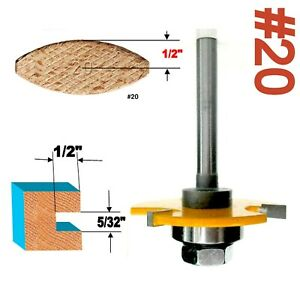 """1 pc 1/4 Shank #20 Biscuit 5/32""""x1/2"""" Slotting Router Bit"""