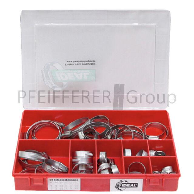 Schlauchschellen Sortiment DIN 3017 50-teilig 9mm W1