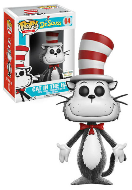 Funko POP! Books Dr Seuss #04 Cat In The Hat (Flocked) Barnes & Noble Exclusive