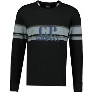Details about  /CP Company Stripe Logo Jumper Black