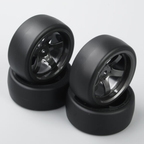 RC 4Pcs 1:10 Drift Tires/&Wheel 5-Spoke D5M For HSP HPI on Road Racing Car