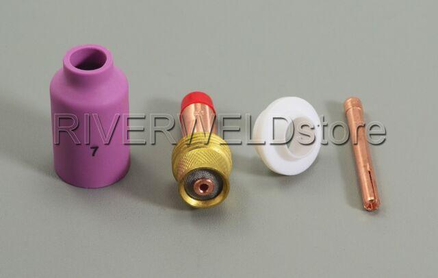"TIG Gas Lens KIT Size 3/32"" 45V26 10N24 54N15 54N01 FIT SR WP17 18 26 Torch 4PK"