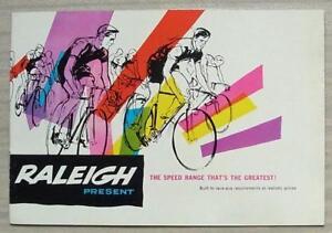 RALEIGH-SPEED-RANGE-Bicycles-Sales-Brochure-c1962-GRAN-SPORT-Sprite-BLUE-STREAK