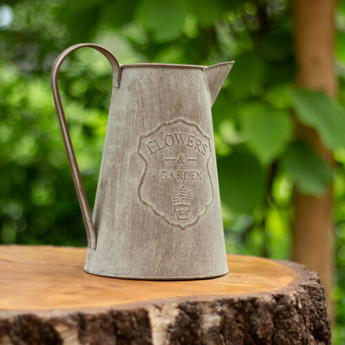 Gießkanne in antikgrün Wasserkrug in Shabby-Chic Vintage Look Wasserkanne