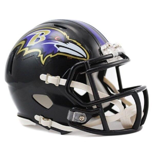 NFL Football Mini Helm Helmet Helmet Helmet BALTIMORE RAVENS Speed neu Riddell Footballhelm 8c9309