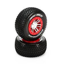 SpeedTreads™ Triple Threat™ SC Tires Mounted Traxxas Slash Fr 2WD (2) DYN5128