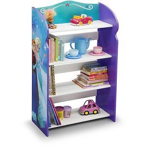 Image Is Loading Disney Frozen Bookshelf Storage Girls Room Wooden Organizer