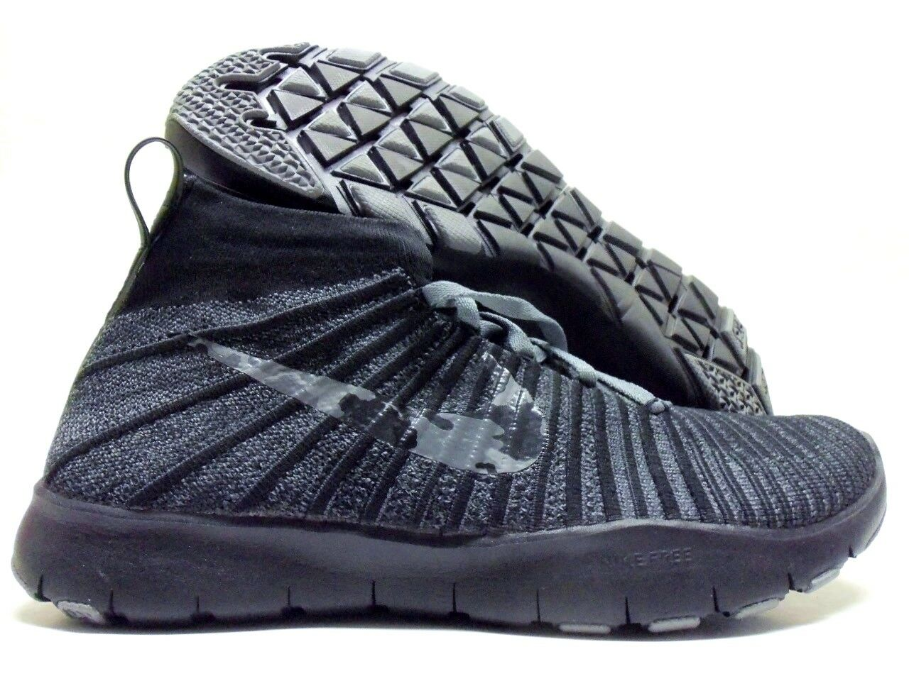 NIKE FREE RUN HIGH FLYKNIT ID BLACK/ANTHRACITE SIZE MEN'S 10.5 [845327-992]