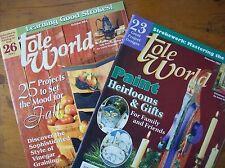 Vintage Tole World Magazines 2003, Set of 2 Magazines