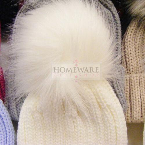 Baby pom pom chapeau filles enfants fourrure synthetique pompon chapeaux hiver chaud grande correspondants pom