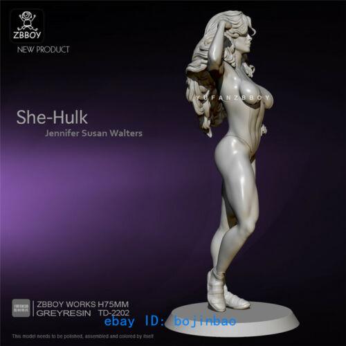 1//24 Female Hulk Figure Model Kits Unpainted Model Kits Hercules YUFAN Miniature