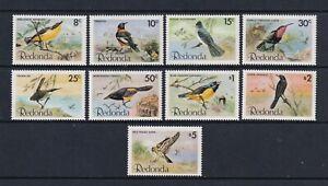 Redonda - 1980,8c - $5 Oiseaux Complet Ensemble - MNH