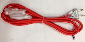 Cavo Tessuto Bipolare Completo Interruttore E Spina 2mt Rosso Izzfvw9d-07155237-460526554