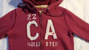 Hollister Junior Women's Zip Up Hoodie Size Small