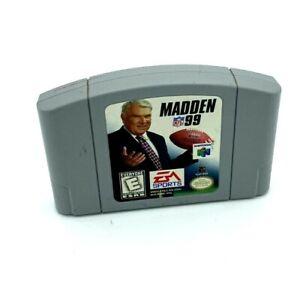 Madden 99 Nintendo 64 N64 Video Game Cartridge TESTED