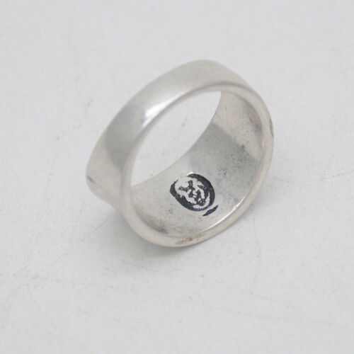 Taille 6 Premier Designs Jewelry Antique rétro plaqué argent anneau simple Texture