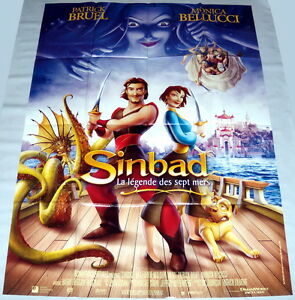 Sinbad Legend Of The Seven Seas Dreamworks Animation Large French Poster Ebay