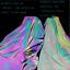 miniatuur 7 - Tessuto rifrangente oleografico con sfumature arcobaleno da cucire 140cm x 100cm