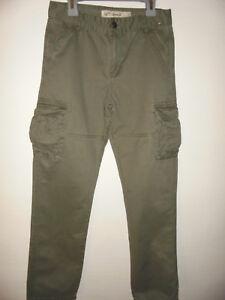 design exquis réel classé sortie en ligne Détails sur DENIM & CO. Pantalon Style Militaire Treillis Poches Latérales  Garçon 11-12 ans