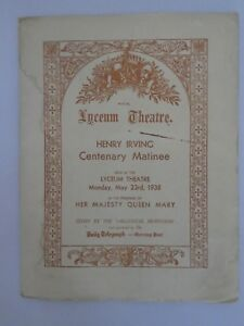 Henry-Irving-Centenary-Matinee-Royal-Lyceum-Theatre-May-23-1938