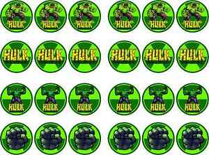 Incredible Hulk Edible RiceIcing Paper Cupcake Birthday Cake Topper