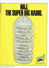 PUBLICITE ADVERTISING 056  1984  The Supr Big radio  NRJ