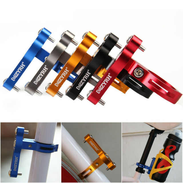 Bike Bicycle Cycling Handlebar Mount Water Bottle Cage Cup Holder Clip Clamp