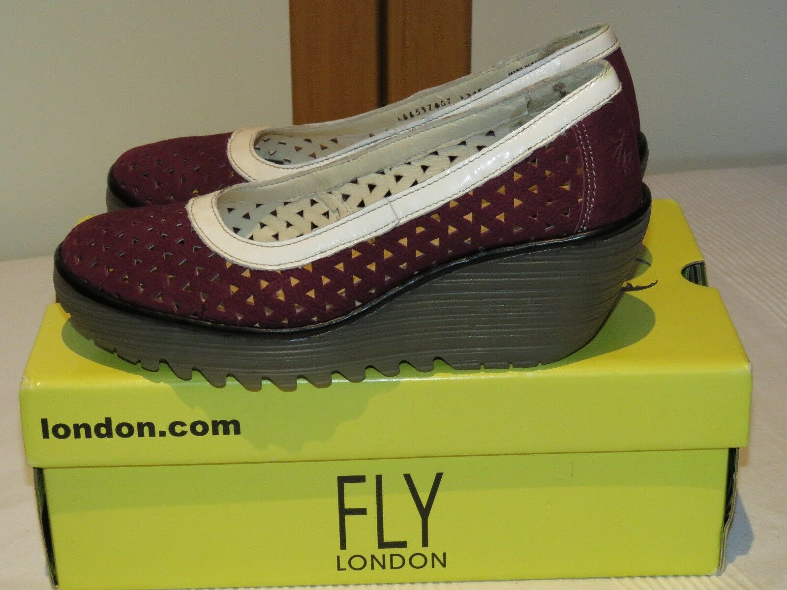 FLY LONDON YARE597FLY CUPIDO LEATHER LEATHER CUPIDO COURT Schuhe WEDGES UK 5 EUR 38 e4bf7b