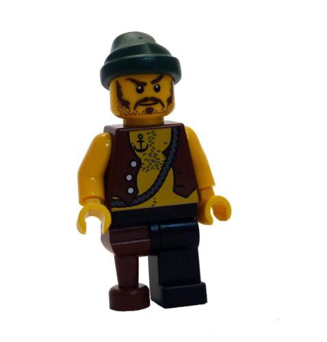 Lego Pirat mit Holzbein dunkelgrünes Kopftuch pi110 Minifigur Neu Pirates II