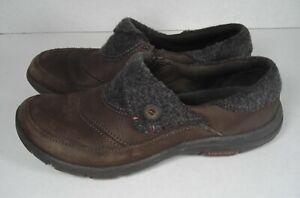 MERRELL-Women-039-s-7-Bracken-Dassie-Fold-Brown-Leather-Wool-Slip-Ons-Loafers-Shoes
