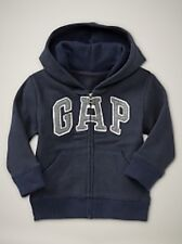 NEW Baby GAP GIRL Fauxfur Embellished Arch Logo Hoodie Sweatshirt Grey 12-18M 2T