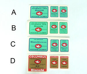 B,C or D  one set only Columbus Cromor frame /& fork decals Choices A