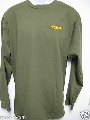 USMC RECON EMBROIDERED LONG SLEEVE T-SHIRT//  NEW