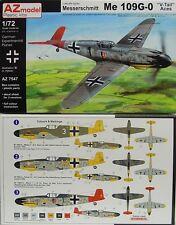 "Me-109 G-0  ""V-Tail Aces"",1:72, AZ Model, Plastikmodellbausatz,*NEU*"