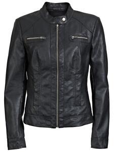 ONLY-Damen-Lederjacke-Jacke-BANDIT-FAUX-LEATHER-BIKER-black-schwarz-PU-15081400