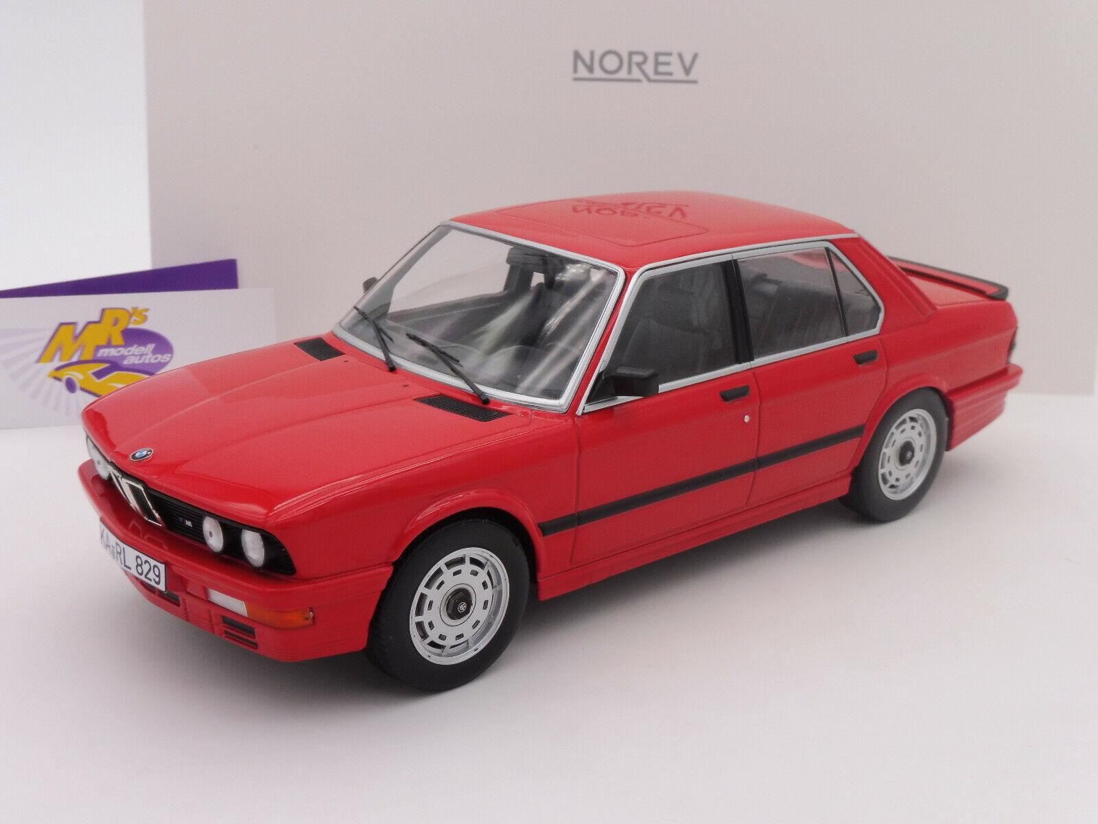 Norev 183262   BMW M 535i E12 Limousine Baujahr 1986 in   rot   1 18 NEU