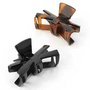 Two-Piece-Black-And-Tortoise-Shell-Colour-Hair-Claw-Clip-Hair-Accessory-Set-6cm