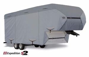 S2-Expedition-Premium-Travel-Trailer-RV-Cover-fits-15-039-16-039-Length-Gray