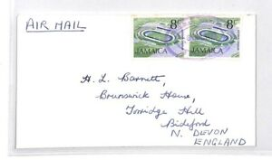 Bq183 1973 Jamaïque Devon Great Britain Airmail Cover {samwells} Pts