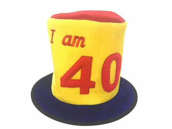 Amical 40th Anniversaire Âge Nouveauté Chapeau Haut-de Fête Célébration Couleurs Harmonieuses