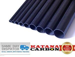 1-4pcs 13mm x 14mm OD x 500mm 100/% Roll Wrapped Carbon Fiber Tube 3K Glossy14*13
