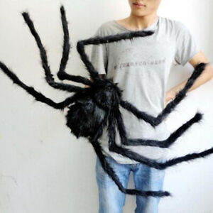 Spider-Halloween-Decoration-Haunted-House-Prop-Indoor-Outdoor-Black-Giant