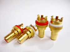 2 pairs CMC-805-2.5F Female RCA Jack Socket Connector Gold Plated