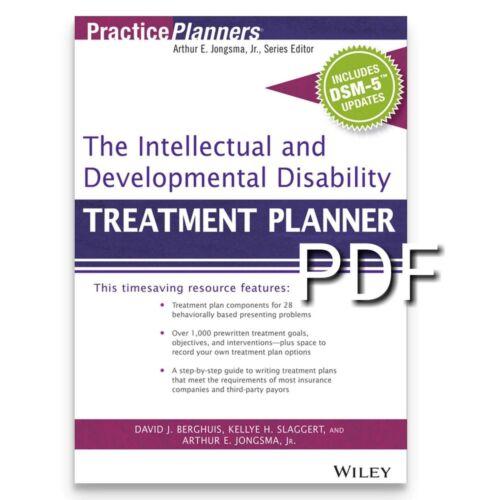The Intellectual and Developmental Disability Treatment Planner READ DESCRIPTION
