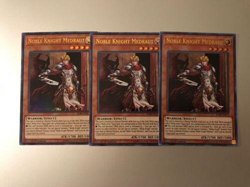 Yugioh 3x Noble Knight Medraut BLRR-EN071 Ultra Rare 1st Edition IN HAND!